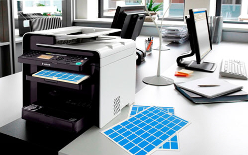 Image of in-house printer with Cable Labels